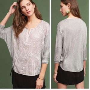 Anthropologie Sz XL Embroidered Dolman by Tiny